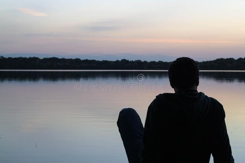 Man Resting Beside Lake Free Public Domain Cc0 Image