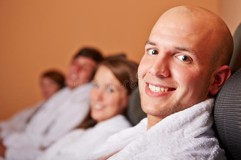 Download Man Resting In Relaxation Room Stock Image - Image: 27951659
