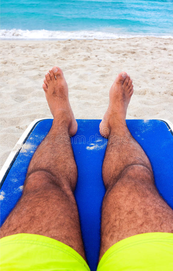 Download Man Resting On A Tropical Cuban Beach Stock Image - Image: 27580055