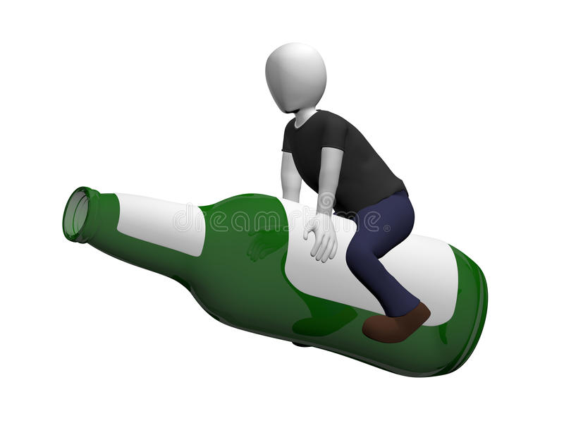 Man Ridding A Beer Royalty Free Stock Image