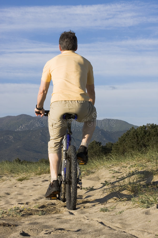 Download Man riding bicycle stock image. Image of cyclist, active - 9224495