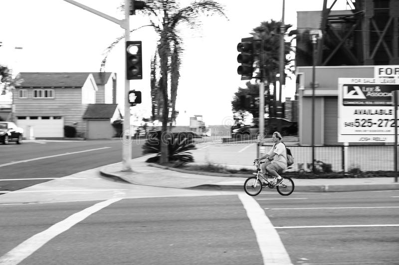 Man Riding Bicycle Photography stock photography