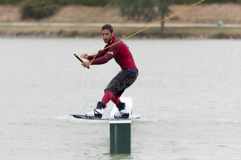 Download Man Riding His Wakeboard. Editorial Image - Image: 19672810