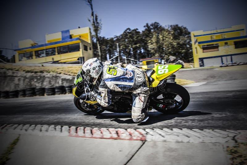 Man Riding Sports Bike royalty free stock images