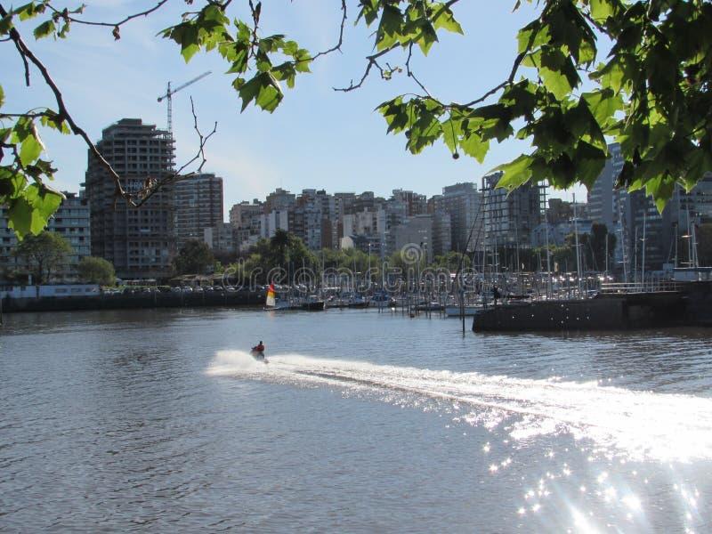 Man riding a watercraft royalty free stock photography