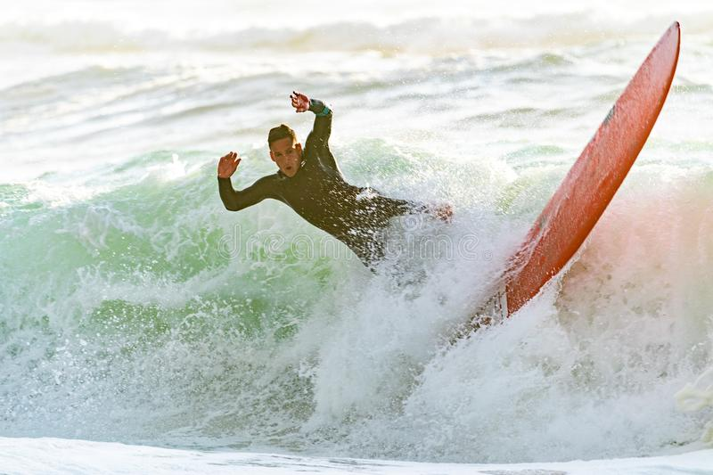 Man Riding A Wave On A Surfboard Free Public Domain Cc0 Image