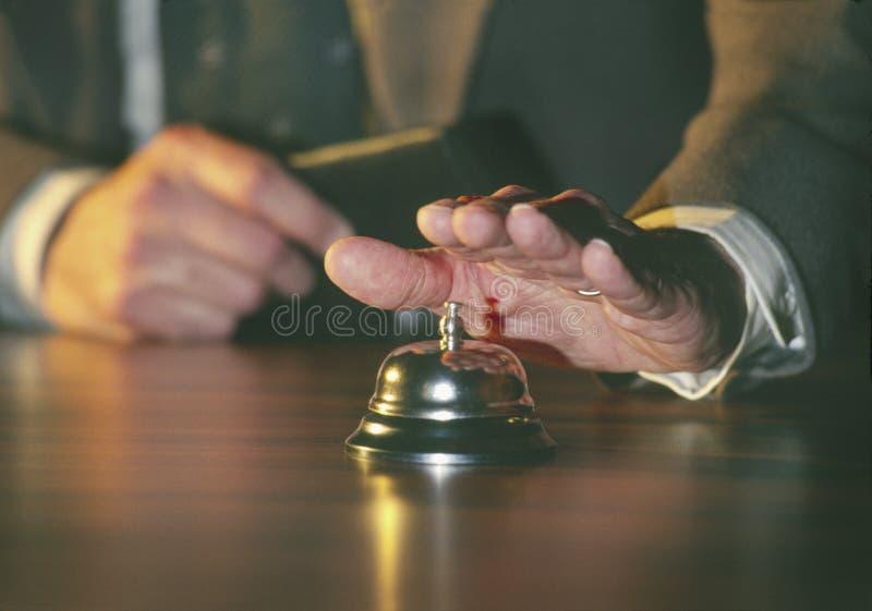 Download Man ringing service bell stock photo. Image of salesman - 5931168