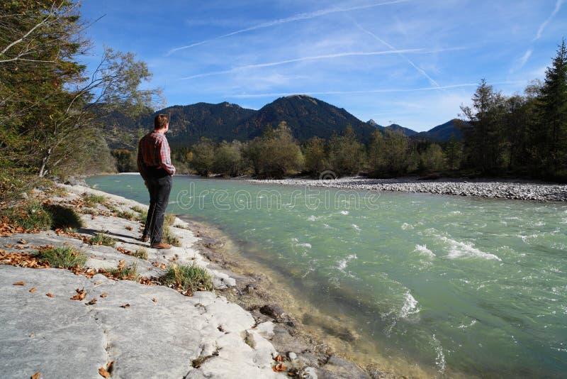 Download Man At River Stock Image - Image: 27268191