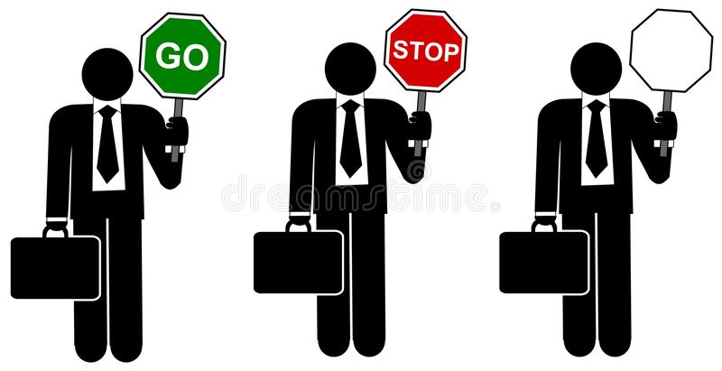 Man With Road Traffic Signs Royalty Free Stock Image