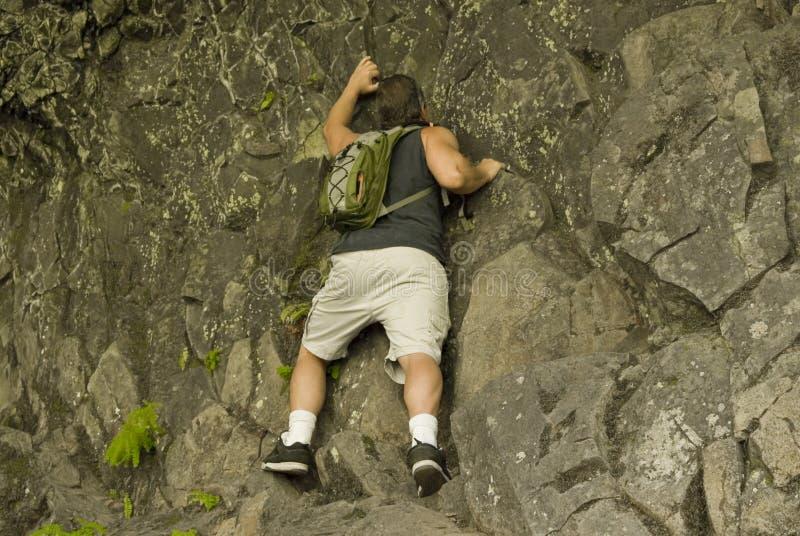 Man Rock Climbing stock photography