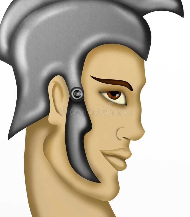 Download Man with roman helmet stock illustration. Image of soldier - 31794660