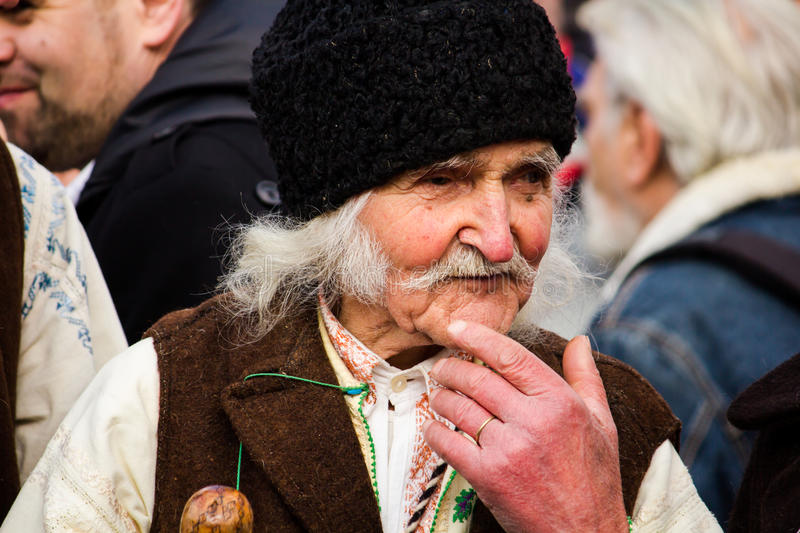 Man in Romanian traditional costume royalty free stock photo