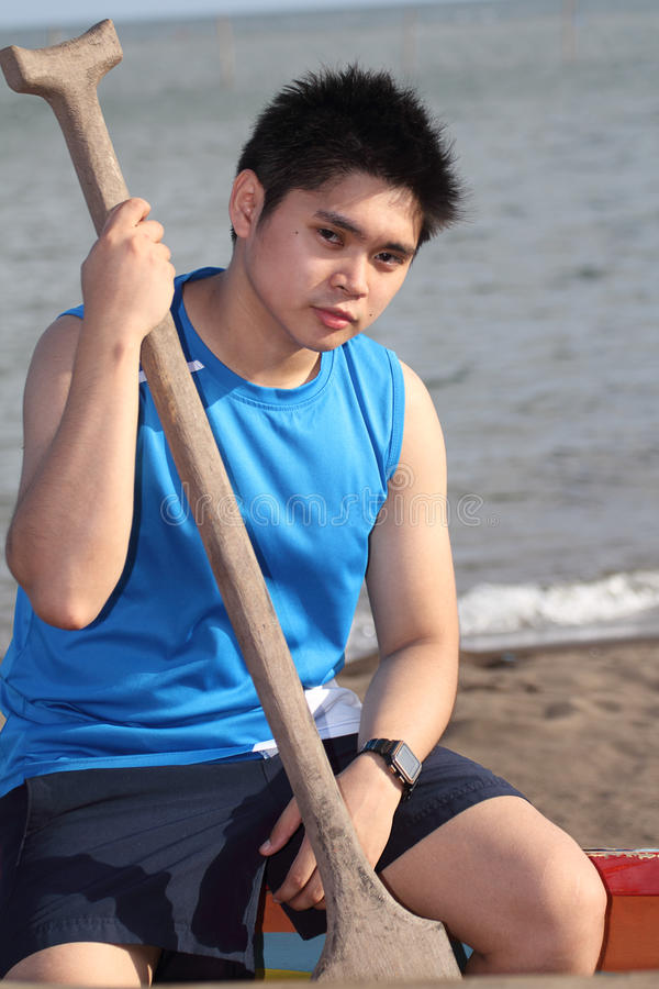 Download Man With Rowing Paddle Stock Photography - Image: 24131002