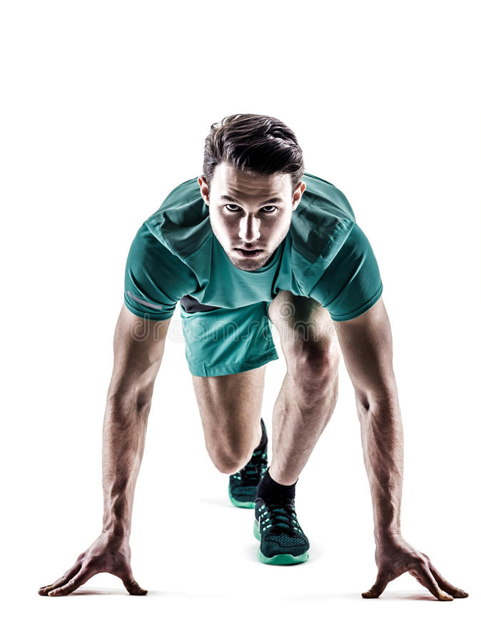 Man runner jogger running stock photos