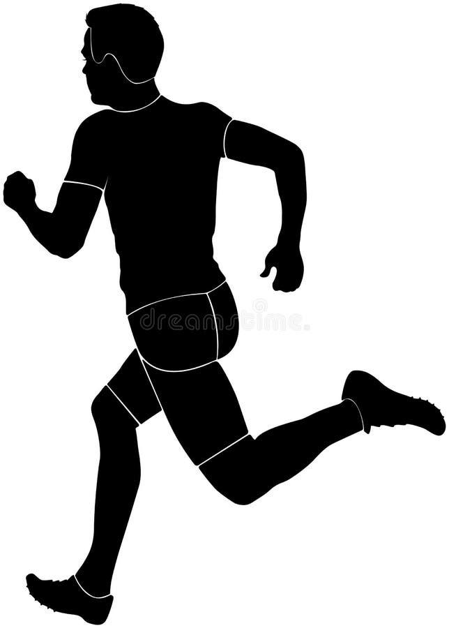 Man runner sprinter vector illustration