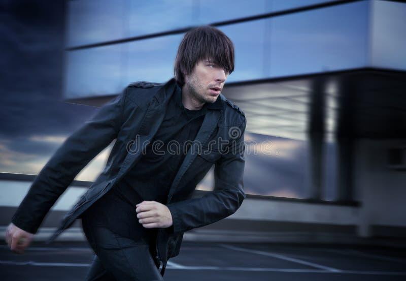 Download Man running stock image. Image of caucasian, company - 12307385