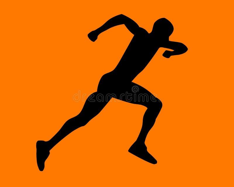 Man running vector illustration