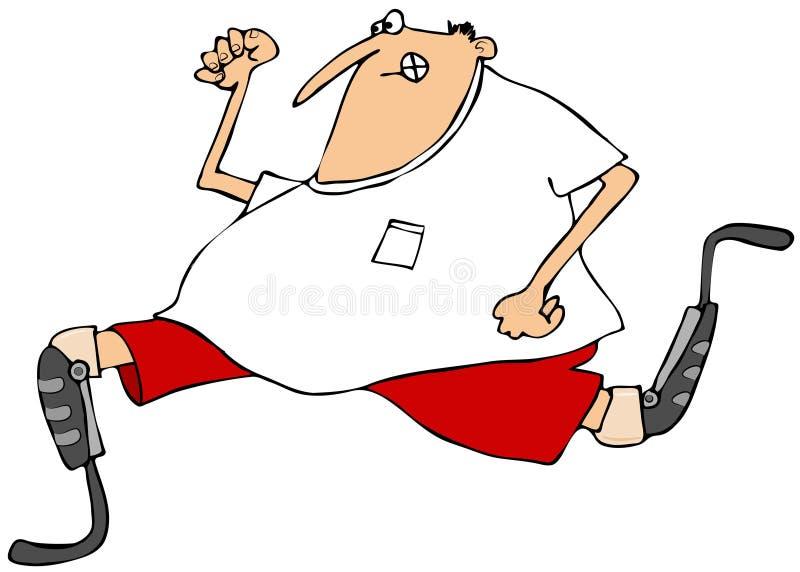 Download Man Running On Artificial Legs Stock Illustration - Image: 39431784
