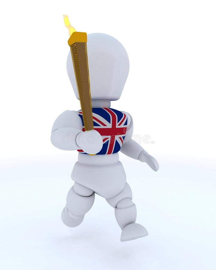 Download Man Running With Olympic Torch Stock Illustration - Image: 24672962