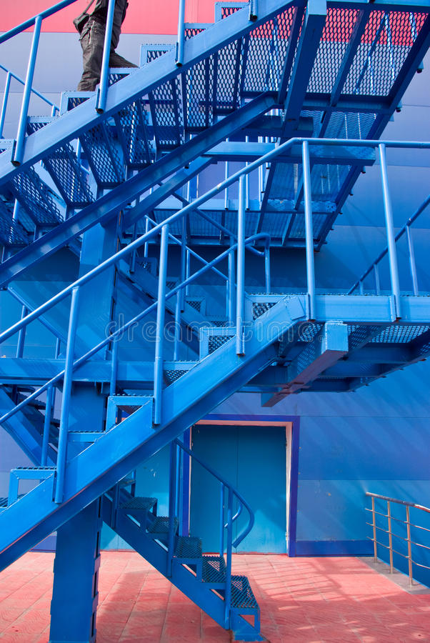 Download A Man Running Up The Stairs Stock Image - Image: 14651155