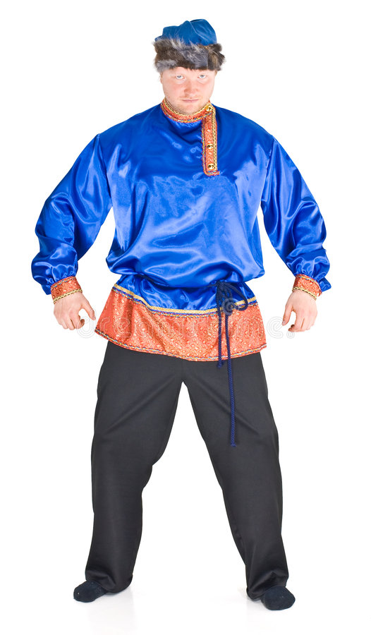 Man in Russian costume stock image