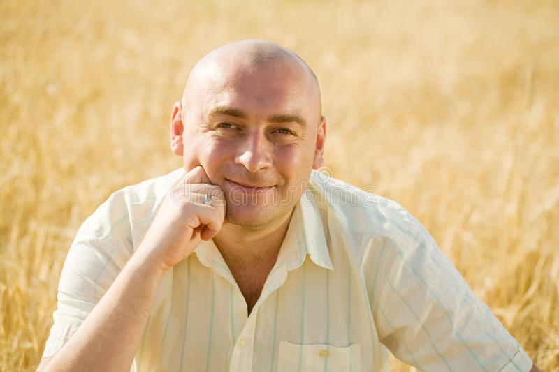 Download Man in the rye field stock image. Image of wheat, outdoors - 16274775