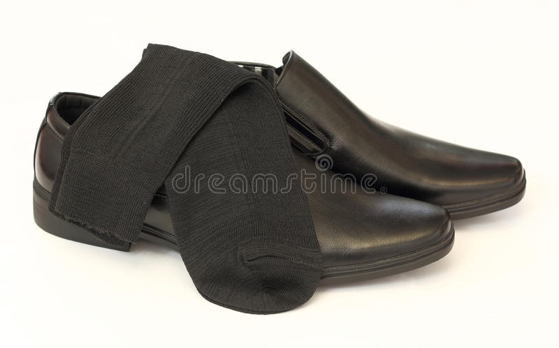 Download Man's Black Shoes And Socks Stock Image - Image: 26495773