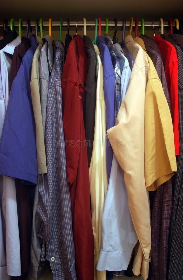 Man's closet. Inside man's closet stock images