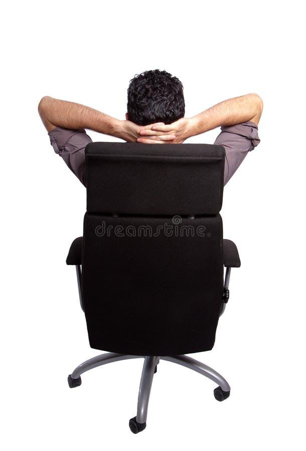 Man?s de assento para trás imagem de stock