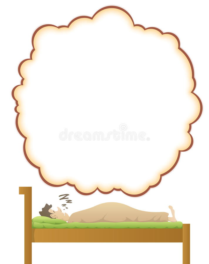 Download A Man's Dream stock vector. Image of balloon, lying, male - 23020821