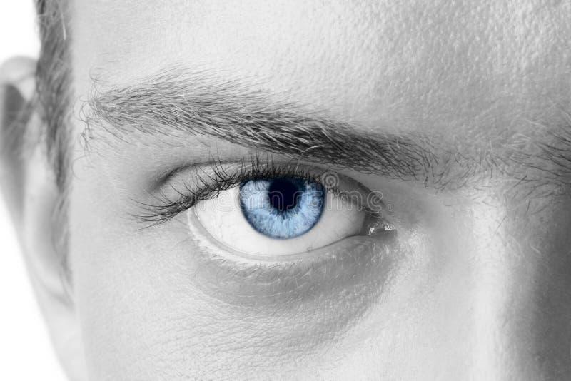 Man's eye stock photo