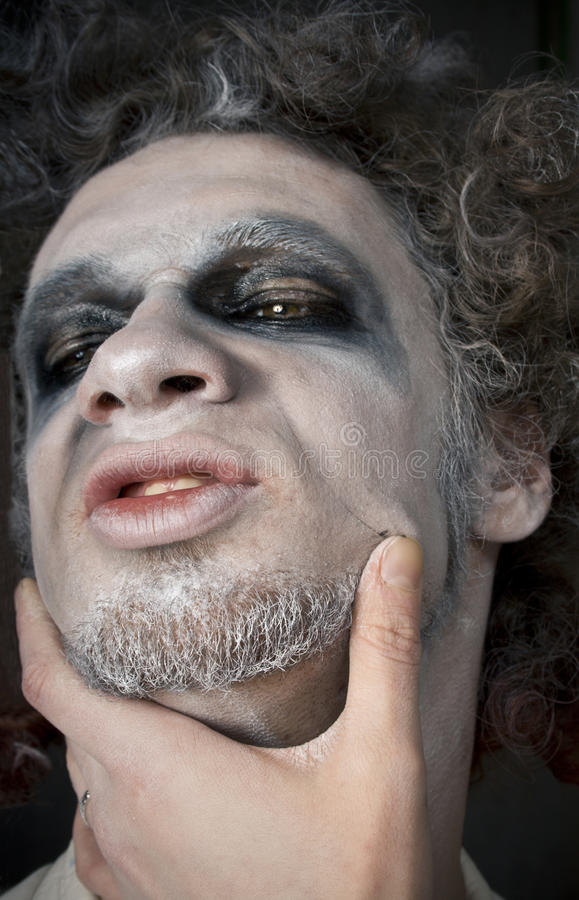 Download Man's face stock photo. Image of greasepaint, makeup - 13157338