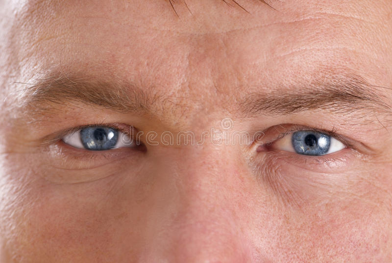Man's face stock photography