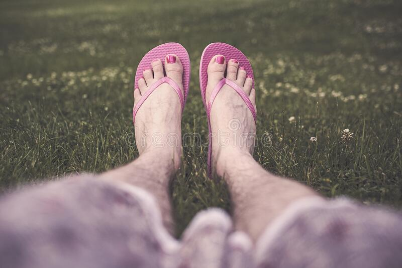 Man's Feet In Flip Flops Free Public Domain Cc0 Image