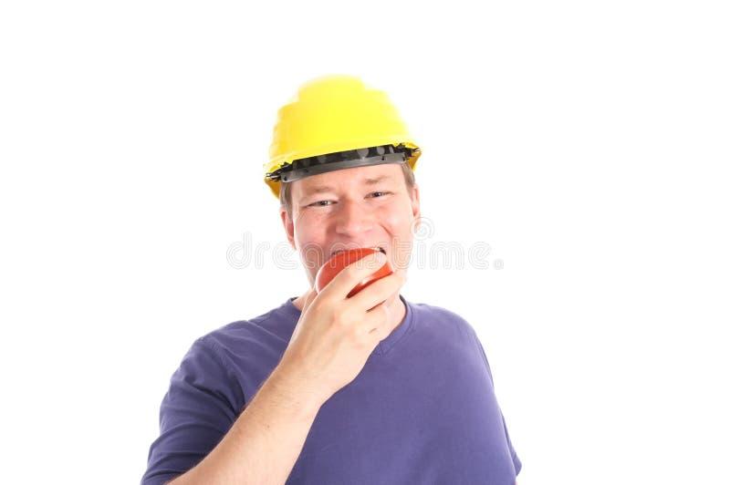 Man's got to eat stock image