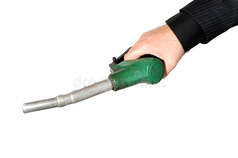 Download Man's Hand With Gas Station Pump Stock Image - Image: 19322587