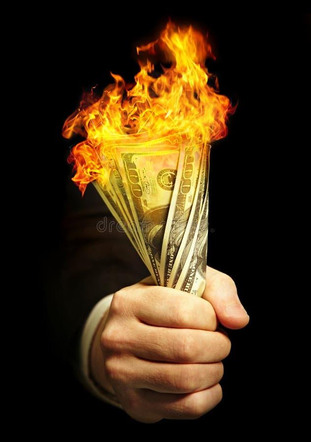 Man s hand holds dollars