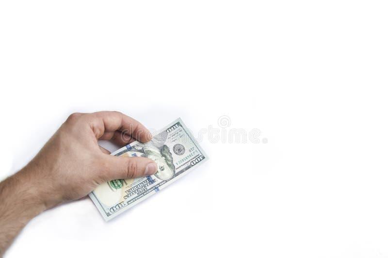 Man's hand keeps money,money in hand stock photos