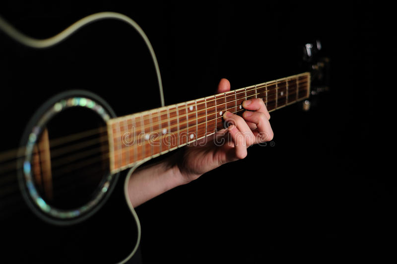 Download Man's Hand Striking A Chord Stock Images - Image: 17538004