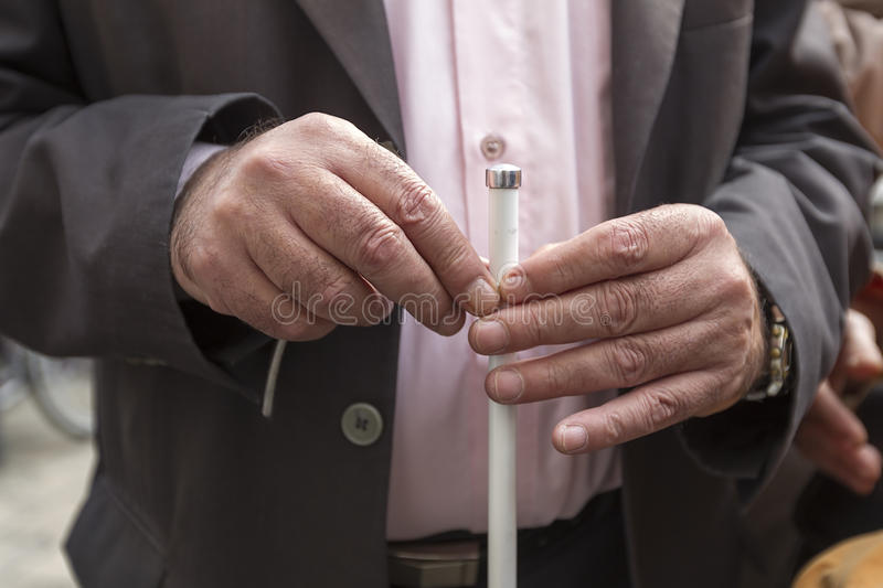 Download Man's Hands Holding A Stick Stock Image - Image of elderly, health: 33029021