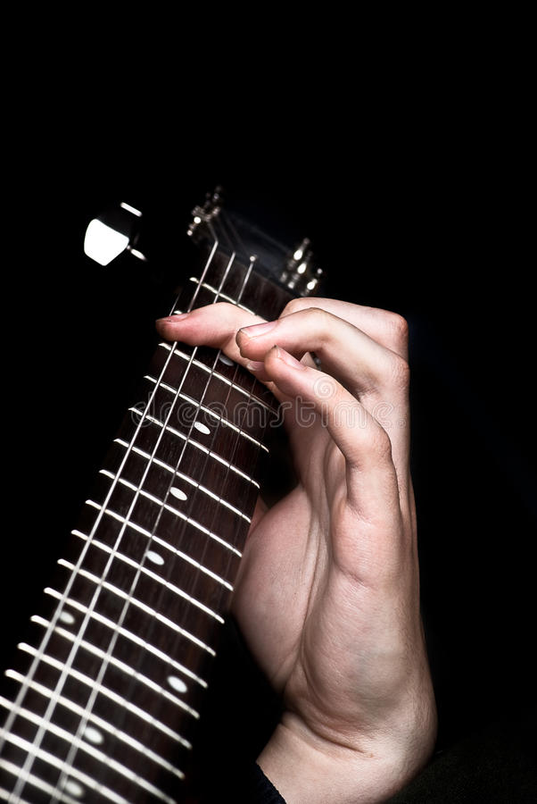 Free Man S Hands Playing Guitar Royalty Free Stock Images - 13272419
