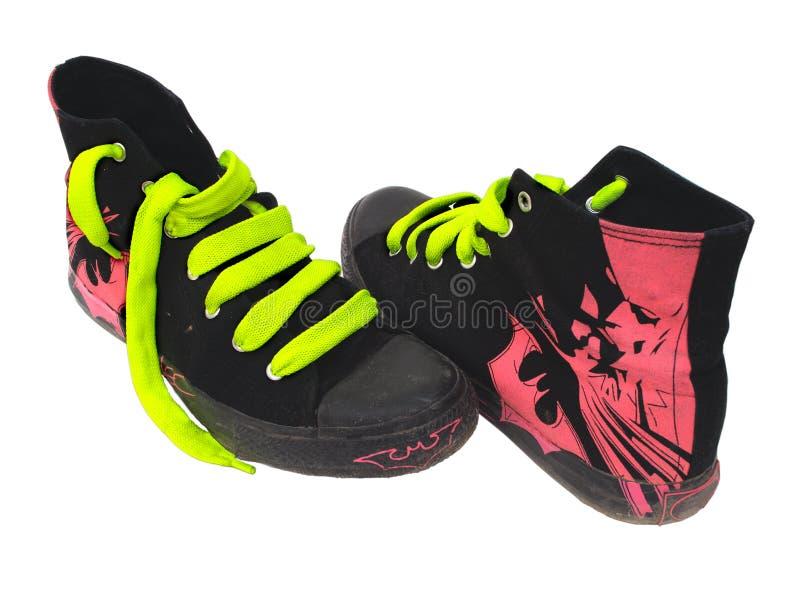 Man's jogging shoes stock image
