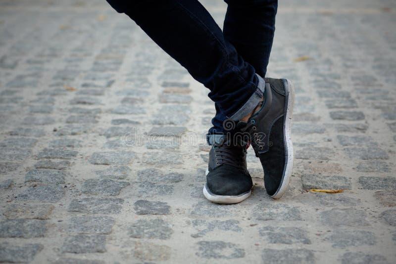 Man's legs royalty free stock photo