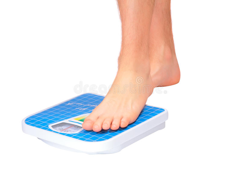 Download Man's Legs ,weighed On Floor Scale. Stock Photo - Image: 22890850