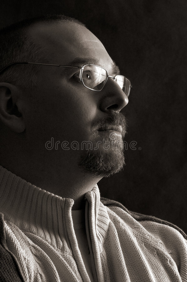 Man's portrait royalty free stock photos