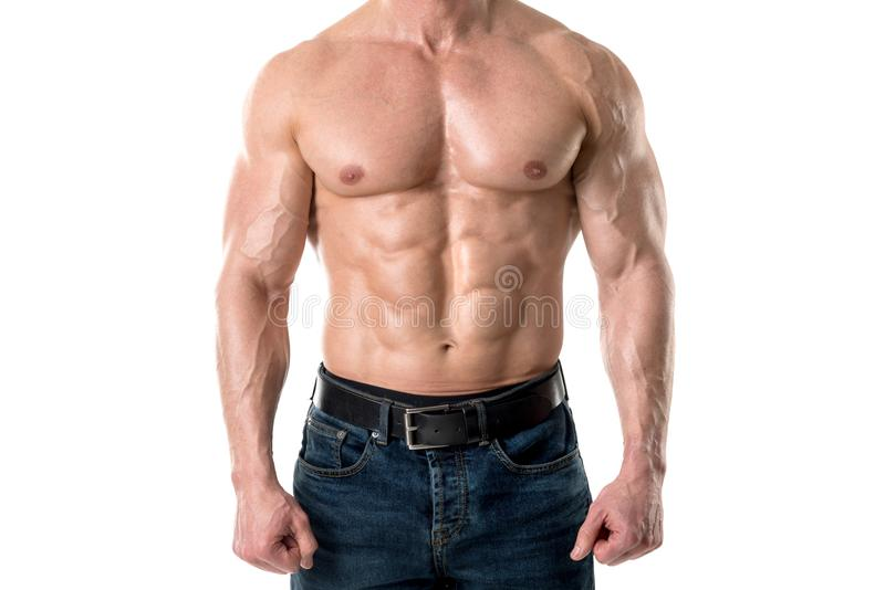 Man`s power body stock images