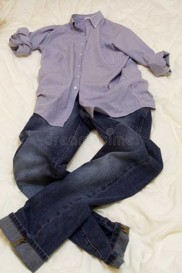 Man s shirt and jeans