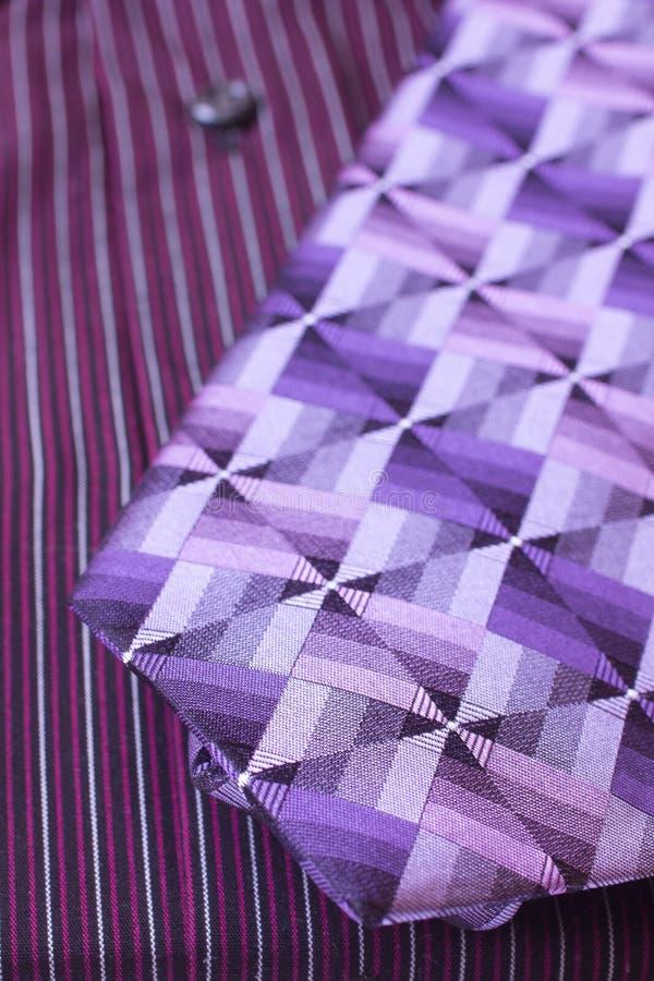 Man's Shirt and Tie stock photos
