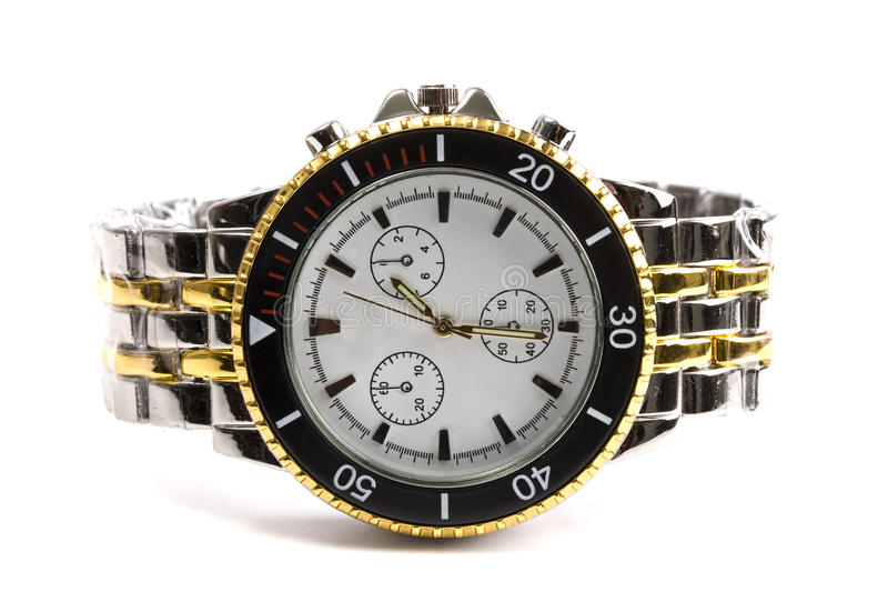Man's watch stock photography