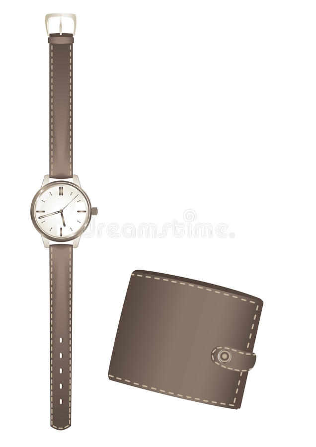 Download Man's Watch And Purse Royalty Free Stock Image - Image: 16595976